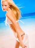 Jeune femme dans le bikini photo stock