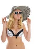Jeune femme dans le bikini Photos libres de droits