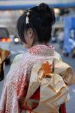 Jeune femme dans le kimono Image libre de droits