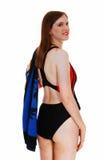 Jeune femme dans le maillot de bain. Photographie stock
