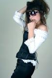 Jeune femme dans les sunglass Photos stock