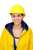 Jeune femme dans les vêtements de travail Photo libre de droits