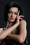 Jeune femme dans un point de polka Images libres de droits