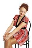 Jeune femme dans une robe Image stock