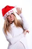 Jeune femme de beau Noël Images libres de droits