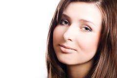 Jeune femme de beauté avec le renivellement parfait Image stock