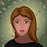 Jeune femme de beauté de brune Photos libres de droits