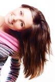 Jeune femme de beauté heureuse Image libre de droits