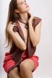 Jeune femme de beauté simple Photos libres de droits