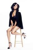 Jeune femme de bel Afro-américain image stock