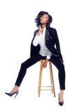 Jeune femme de bel Afro-américain Photographie stock