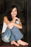 Jeune femme de brunette Photographie stock libre de droits
