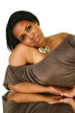 Jeune femme de couleur Photo stock