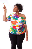Jeune femme de couleur dirigeant - les personnes africaines Photographie stock