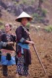 Jeune femme de Dao noir ethnique Images libres de droits