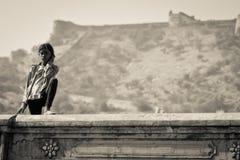 Jeune femme de Jaipur, Inde Images libres de droits