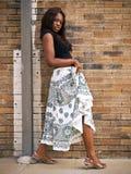 Jeune femme de mode à l'extérieur Image libre de droits