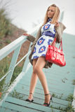 Jeune femme de mode Photographie stock