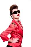 Jeune femme de mode avec le renivellement lumineux Photo libre de droits