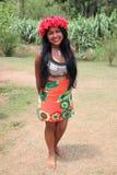 Jeune femme de natif américain Photographie stock libre de droits