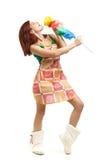 Jeune femme de nettoyage Images stock