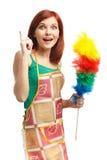 Jeune femme de nettoyage Images libres de droits