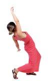 Jeune femme de équilibrage Photo stock