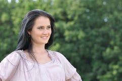 Jeune femme de sourire Image libre de droits