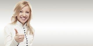 Jeune femme de sourire d'affaires Photographie stock