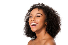 Jeune femme de sourire heureuse Image libre de droits
