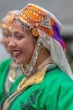Jeune femme de Turquie dans le costume traditionnel Photographie stock