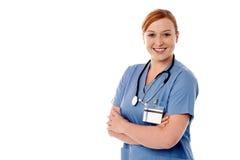 Jeune femme docteur avec du charme sûre Images libres de droits