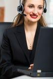 Jeune femme du service client Photos stock