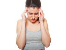 Jeune femme en douleur photos stock
