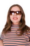 Jeune femme en glaces de soleil Photos libres de droits