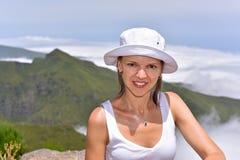 Jeune femme en nuages Photo libre de droits