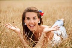 Jeune femme enthousiaste images libres de droits