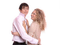 Jeune femme et homme Photos stock