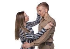 Jeune femme et homme dans l'amour Images libres de droits