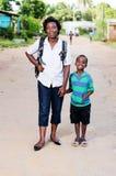 Jeune femme et son enfant Photo stock