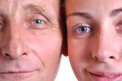 Jeune femme et son père Image libre de droits