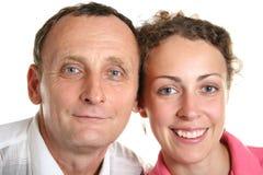 Jeune femme et son père image stock