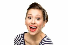 Jeune femme Excited Photo stock