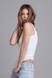 Jeune femme fascinante Photographie stock