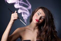 Jeune femme folle Images libres de droits