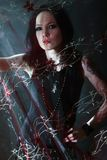 Jeune femme gothique Image stock