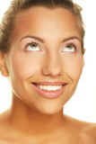 Jeune femme, grand sourire Photographie stock