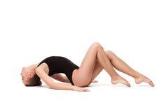 Jeune femme gymnastique mince photographie stock