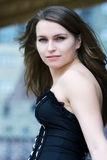 Jeune femme heureuse. Images libres de droits
