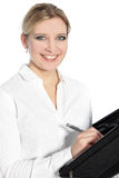 Jeune femme heureuse avec un beau sourire Photos libres de droits